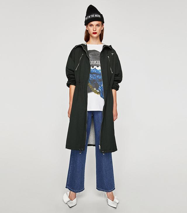 Zara Technical Raincoat