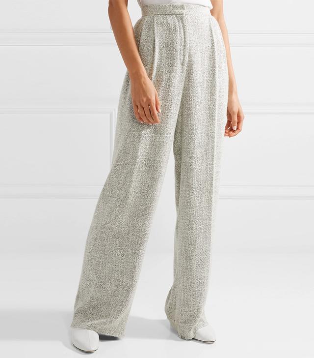 The Row Hester Tweed Wide-Leg Pants