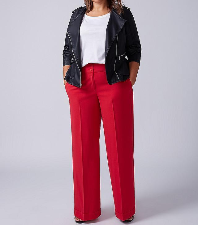 Lane Bryant Lena Tailored Stretch Wide-Leg Pants