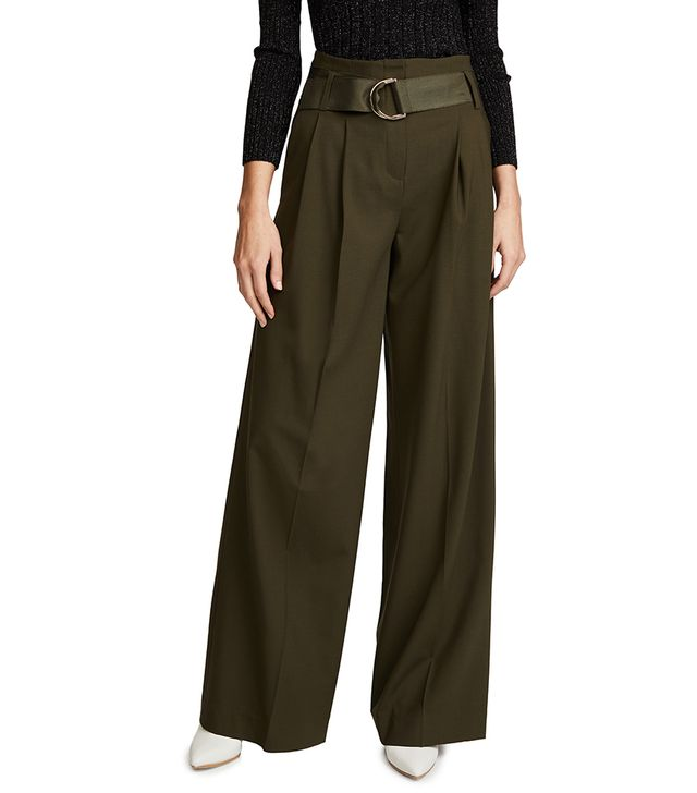 Wide Leg Belted Pants