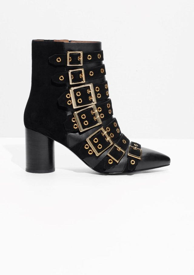Multi Buckle Ankle Boots