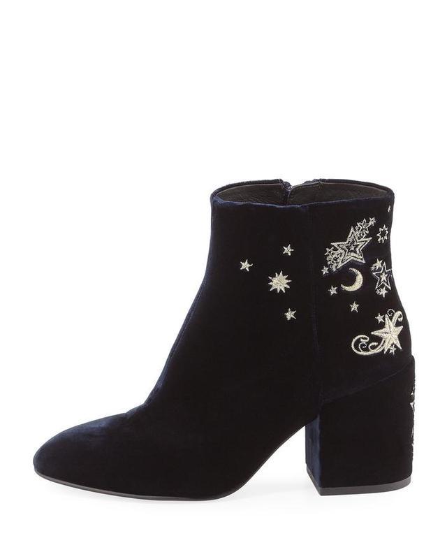 Elixir Embroidered Velvet Boot