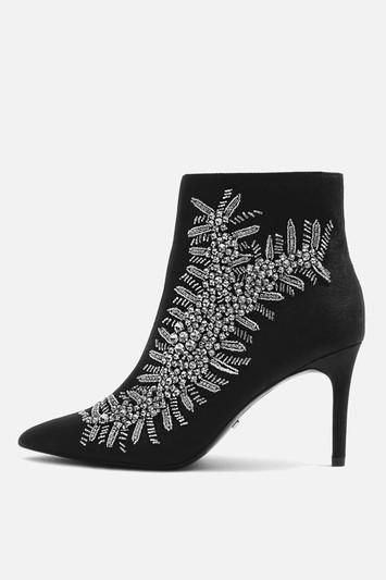 Heavenly Embellished High Ankle Boots