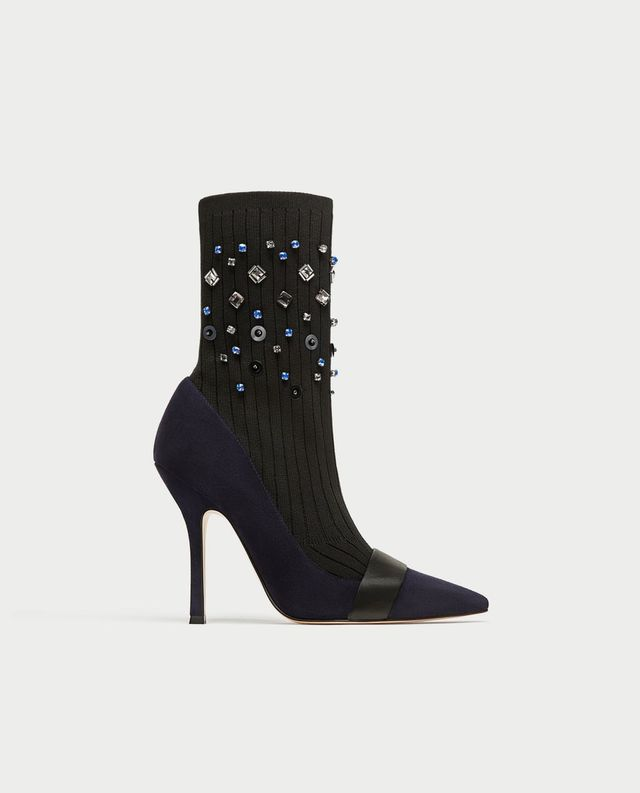 Zara EmbellishedAnkle Boots