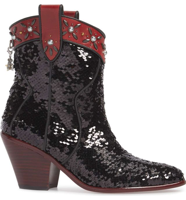 Coach Sequin Embellished Western Bootie