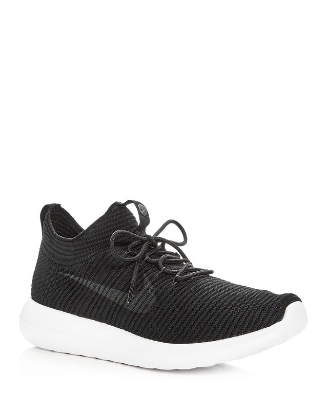 Nike Roshe Two Flyknit Lace Up Sneakers
