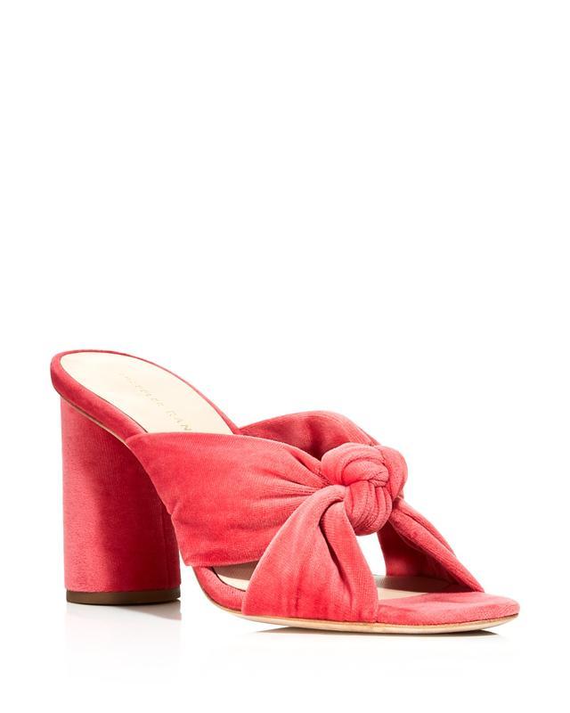 Coco Velvet High Heel Slide Sandals