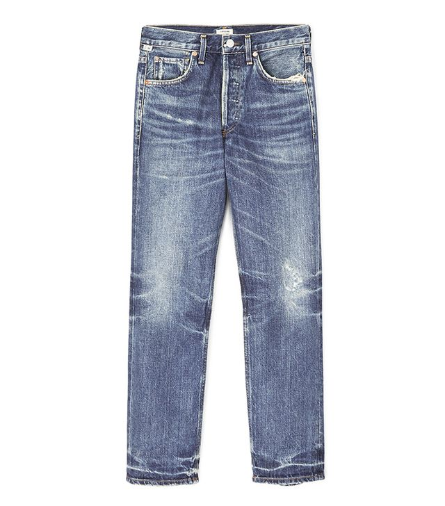 Gia High Rise Ankle Straight Leg Jeans
