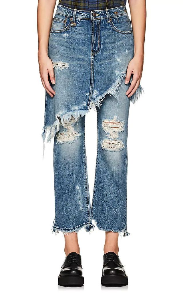 Women's Double Classic Distressed Crop Levi's® Jeans