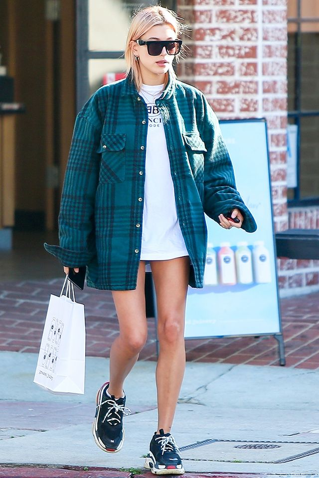 Hailey Baldwin Balenciaga sneakers