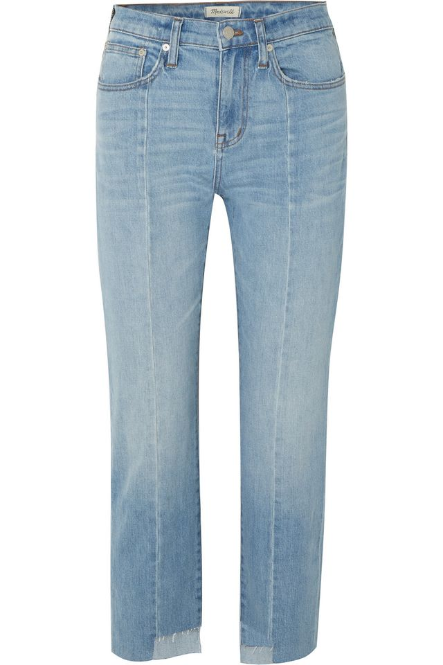 Cruiser Distressed Mid-rise Straight-leg Jeans
