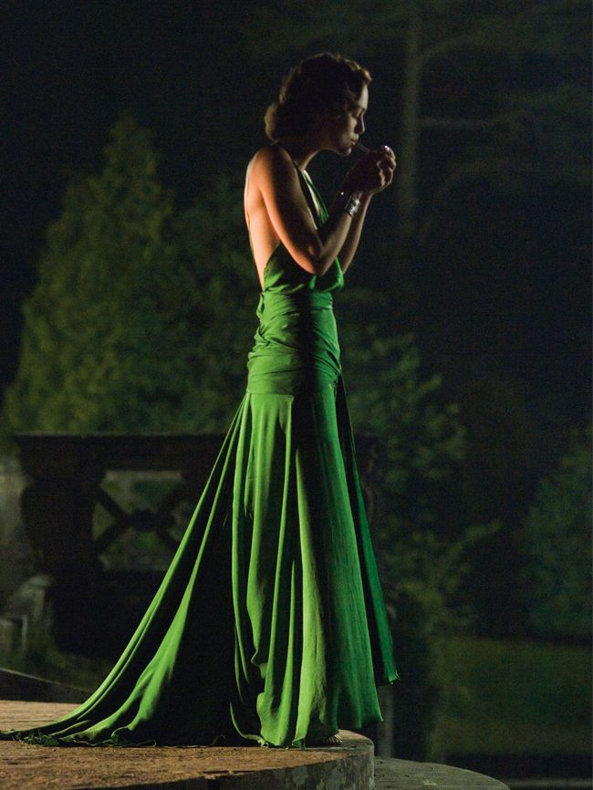 Movie style moments: Keira Knightley green dress in Atonement