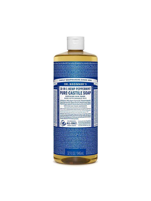 Dr Bronner's Castile Liquid Soap Peppermint