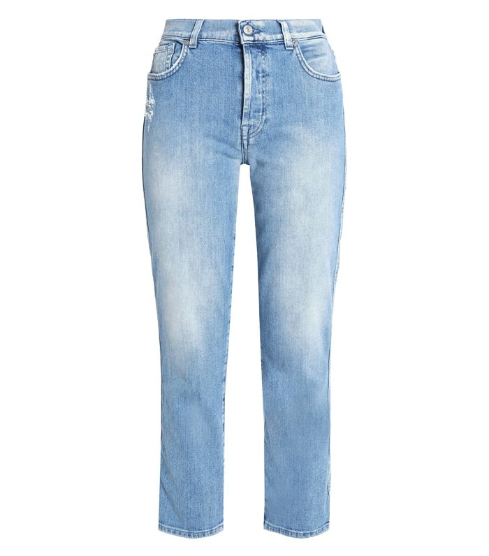 best Outnet denim: 7 For All Mankind Mid-Rise Skinny Jeans