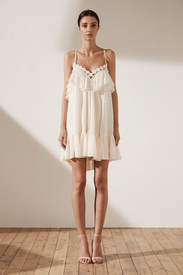 Shona Joy Stella Cross Back Mini Dress in Cream