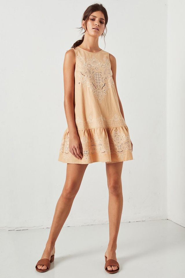 Spell & The Gypsy Collective Darling Embroidery Mini Dress