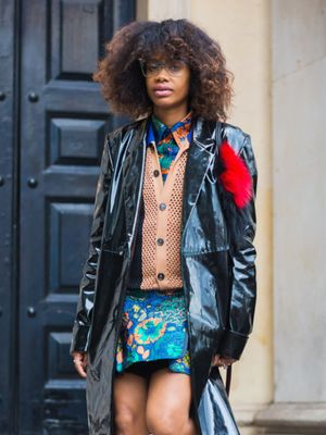 How to Wear Florals When It's Freezing Out