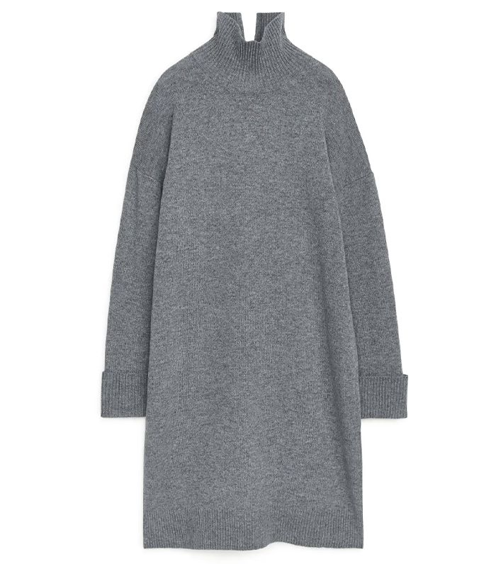 Arket High-Neck Knitted Dress