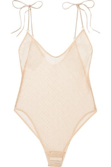 Apollonia Swiss-dot Tulle Bodysuit