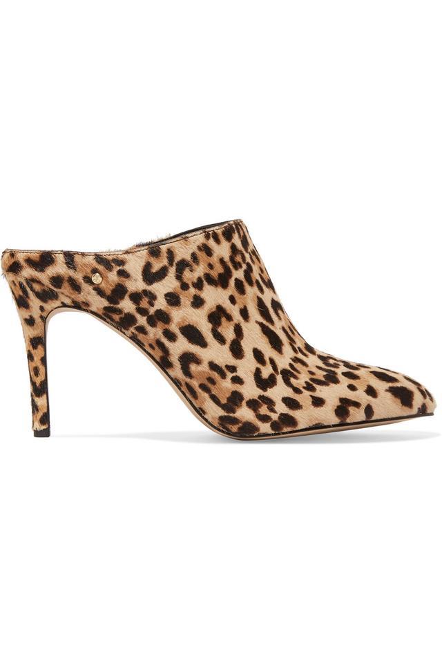 Oran Leopard-print Calf Hair Mules