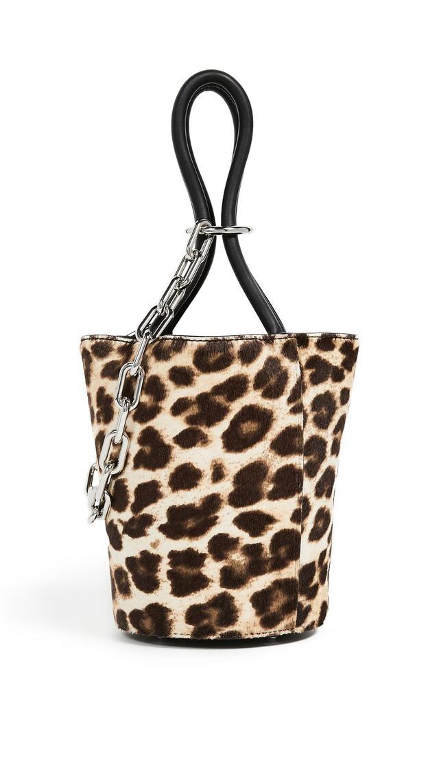 Roxy Mini Bucket Dome with Leopard Print Pony Hair