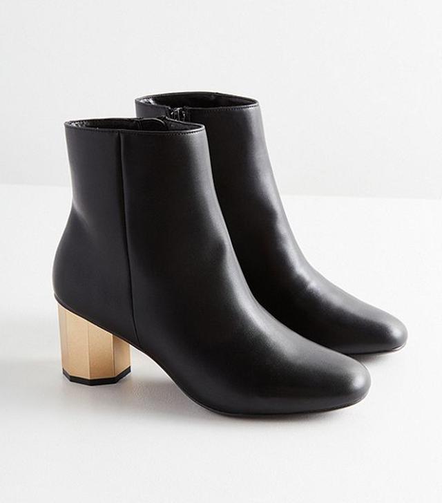 Geometric Heel Ankle Boot