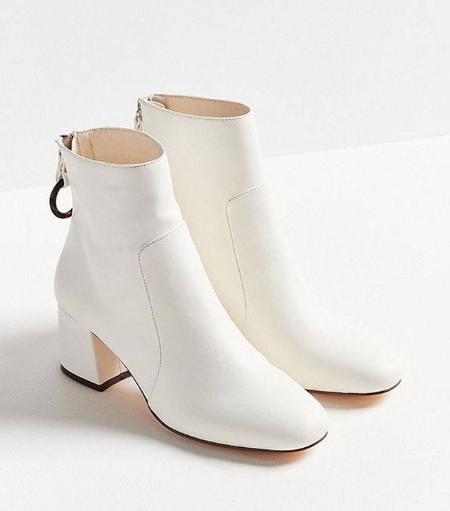 Harlow Faux Leather O-Ring Ankle Boot