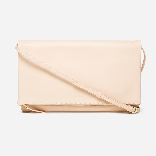 Women's Foldover Crossbody Leather Bag by Everlane in Natural