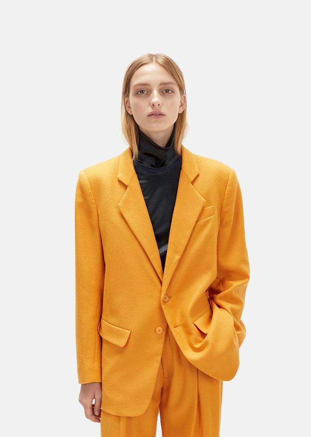 Wool & Cashmere Blazer Persimmon Size: Small