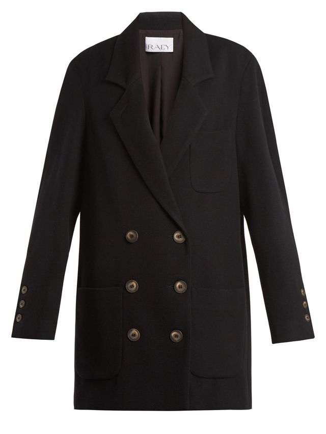 Oversized wool-blend twill blazer