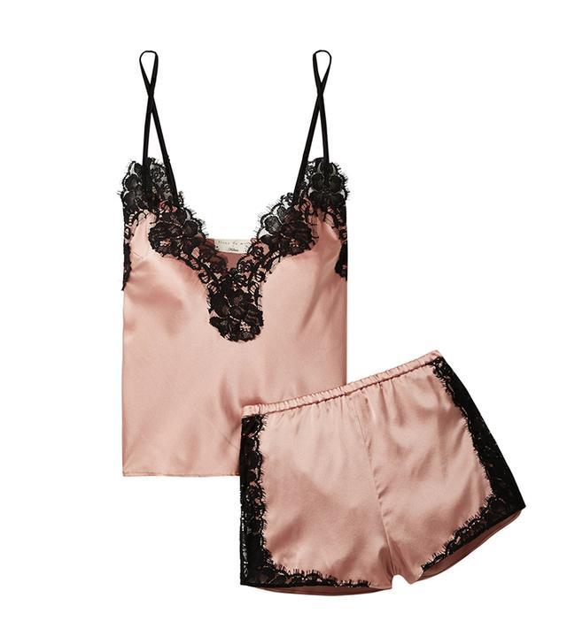 Kilian Lace-trimmed Stretch Silk-satin Pajama Set