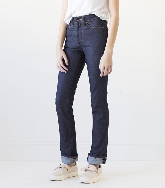 Raleigh Denim Workshop Madison Raw Indigo Jeans