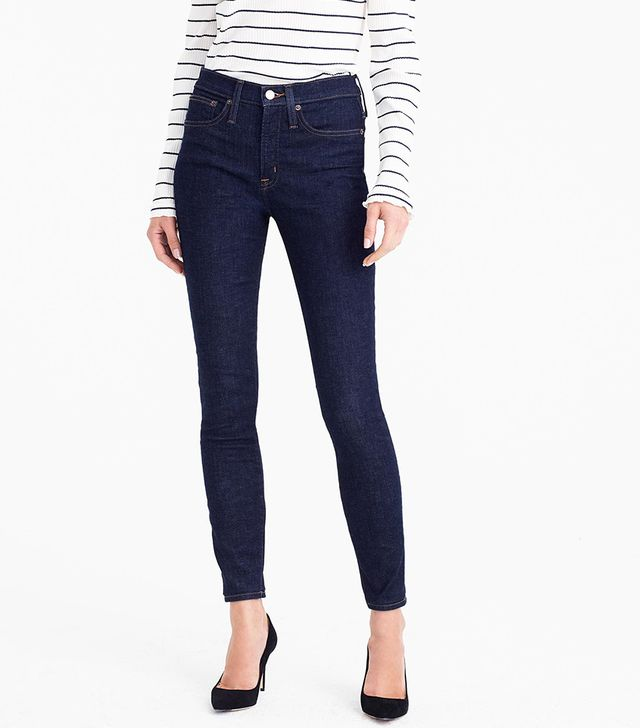 """J.Crew 9"""" High-Rise Toothpick Jean in Classic Rinse"""
