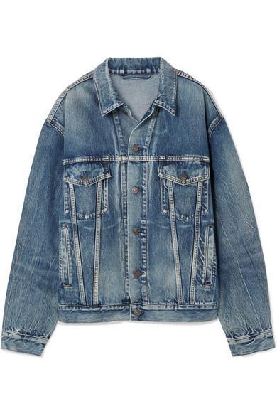 Like A Man Oversized Printed Denim Jacket