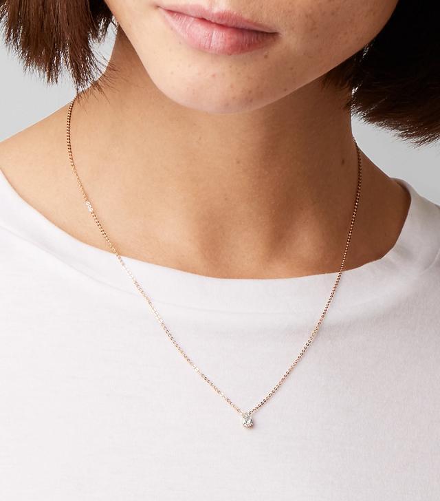 18-karat Rose Gold Diamond Necklace