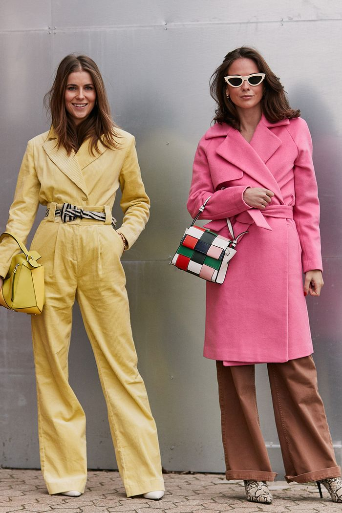 How to dress in Febuary: wear bright colours head to toe