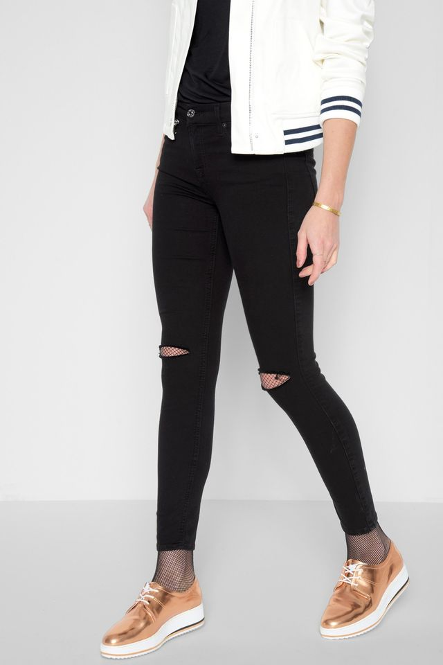 7 for All Mankind B(air) Denim Ankle Skinny Jeans