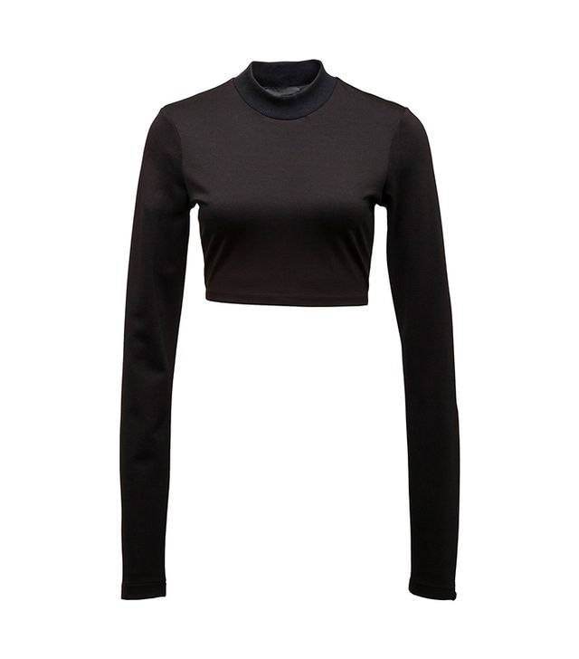 Puma Long Sleeve Cropped Mock Neck Top