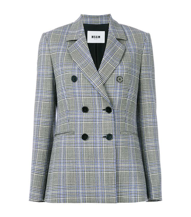 Tartan Double Breasted Jacket