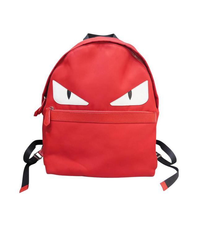 Fendi Red Satin Monster Backpack