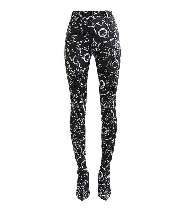 Balenciaga Pantashoe Spandex Skinny Pants