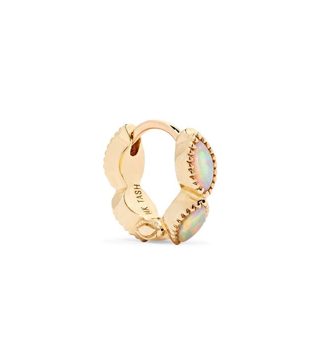 Eternity 14-karat Gold Opal Earring