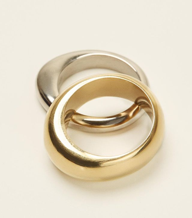 Soko Organic Mixed Metal Stacking Rings
