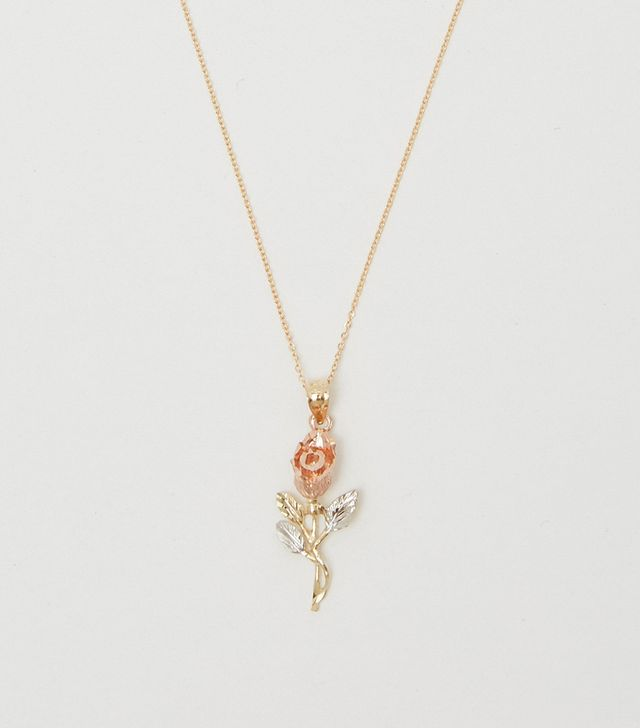 Bagatiba 14K Tri-Color Rose Necklace