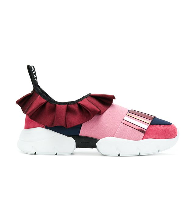 low ruffle sneakers