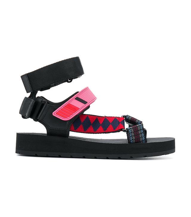 patterned sandals