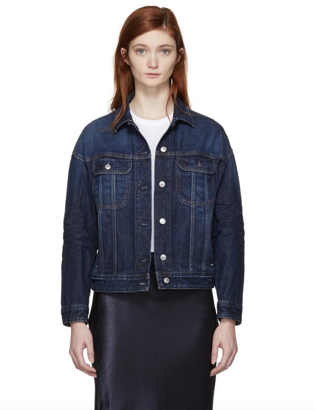 Acne Studios Blue Denim Lamp Jacket