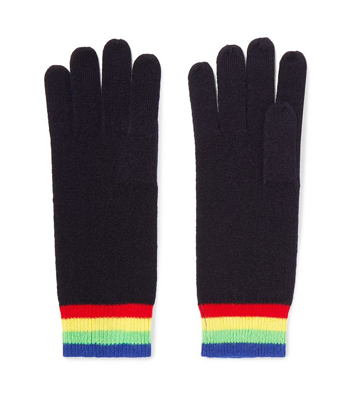 Elba Striped Cashmere Gloves by Madeleine Thompson