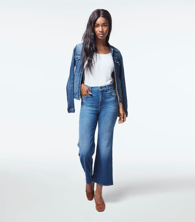 Joan High-Rise Wide Leg Crop In Striker
