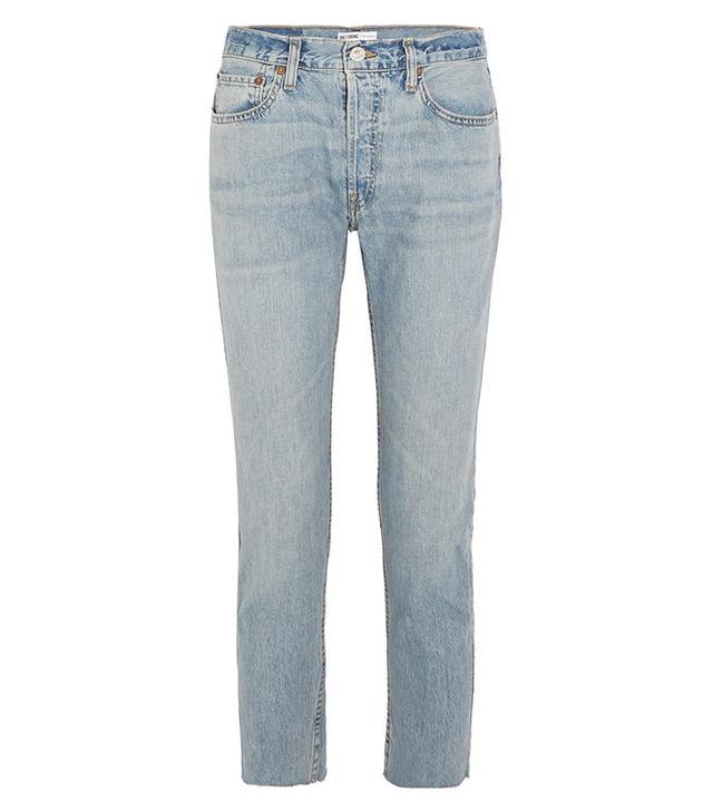 Originals Relaxed Crop Frayed Slim Boyfriend Jeans
